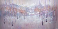 a wide winter landscape with deer Oil On Canvas, Canvas Art, Original Art, Original Paintings, Art Tutor, Messy Art, Winter Landscape, Winter White, Abstract Landscape