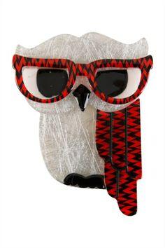 Erstwilder Waldo The Wacky Wise Owl Brooch