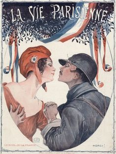Georges Léonnec (1881 – 1940). Le Noël de la France' La Vie Parisienne, 1918.