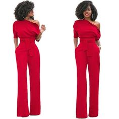4adfcf2ebc2 Off Shoulder Short Sleeve Women Jumpsuits Romper Sashes Long Body