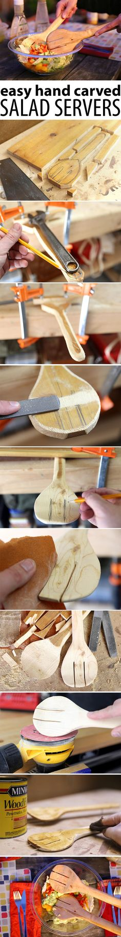 Not all woodworking involves perfect cuts and power tools. Wood can easily be shaped by hand tools, carving away sections to take on almost any shape you can imagine.