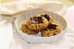 Chocolate Chia Cookies made with barley flour. See Recipe on our Facebook page (CleanCuisineandMore) or Click on Photo