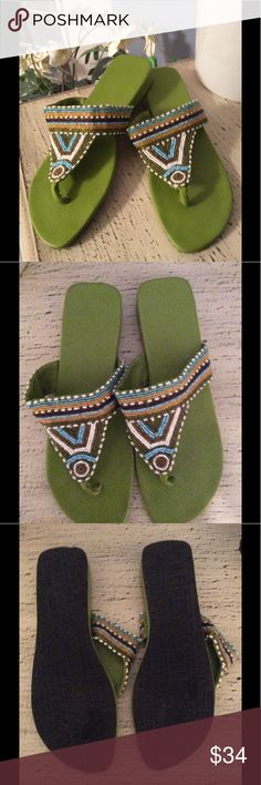 🌺BRAND NEW-TOMMY HILFIGER BEADED SANDALS.SO CUTE! 🌺 BRAND NEW--TOMMY HILFIGER BEADED SANDALS. SO CUTE. YOU ARE GOING TO LOVE ❤️ WEARING THESE. TOMMY HILFIGER Shoes Sandals