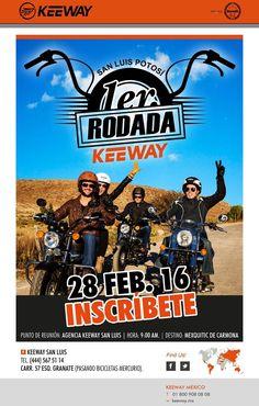 Rodada Keeway San Luis, regístrate a una agradable experiencia