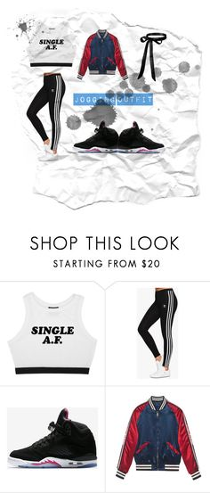 """""""jogging outfit"""" by nikkimayo on Polyvore featuring adidas Originals, NIKE and Gucci"""