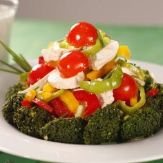 Salată de broccoli cu sos de brânză Cobb Salad, Cooking, Broccoli, Food, Salads, Cuisine, Kitchen, Meal, Kochen