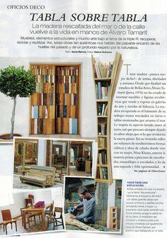 My husband, Álvaro Tamarit, artist, featured in this month's Nuevo Estilo Magazine (# 418). AMAZING!