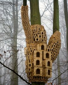 trees and houses. this is about me. completely in love with this work.