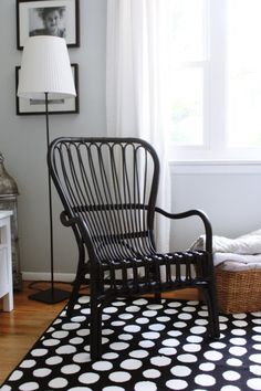 Ikea Storsele Black Rattan Chair. $75