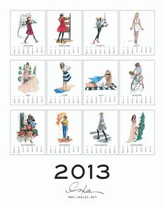 I LOVE this! - Inslee By Design 2013 Classic Calendar