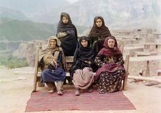 A group of women in Dagestan, ca. 1910--Russian Empire just before World War I (by Sergey Prokudin-Gorsky)