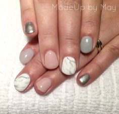 Sep 2016 - Nude grey silver marble nails done with Biosculpture gel and Evo. Glitter Gel Nails, Blue Nails, White Nails, Pink Powder Nails, Bio Sculpture Gel Nails, Watermelon Nails, Gel Nails French, Dipped Nails, Marble Nails