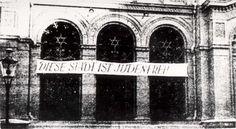 """""""Diese Stadt ist judenfrei"""", geschändete Synagoge in Bromberg, 15. September…"""
