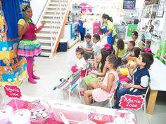 Titeres y clown en Cafe Pintado!!! Pepa the pig Pottery Party.