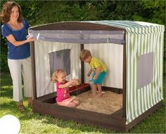 Great little tent cover for the sandpit with roll up door to keep the pets out i… – Backyard Fun – Cat playground outdoor Outdoor Play Spaces, Outdoor Toys, Outdoor Fun, Indoor Playhouse, Build A Playhouse, Cat Playground, Backyard Playground, Play Houses, Kids Playing