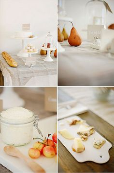 rustic dessert cheese table setting