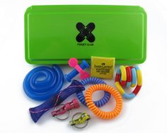 An affordable, compact, and silent box of fidgets. Looking for a back to school fidget box? This assortment of fidgets is perfect for classrooms, lectures, desks, and meetings. Best of all, these fidg