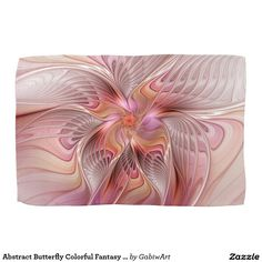 Abstract Butterfly Colorful Fantasy Fractal Art Hand Towels