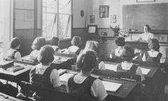 Brisbane Girls Grammar School 1940's Classroom.