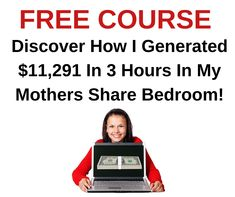 FREE Video Course Exposes How One Newbie Earned $18,900 in less than 24 Hours   #howtomakemoney #makethatmoney #workathome #workfromhome #homebusiness #internetmarketing #onlinejobs #coronawirus #lockdown #stayhome #pandemic #quaratine #facemask #ppe #KN95 #N95 #Covid19 #stayathome Online Cash, Online Jobs, Make Money Online, How To Make Money, Internet Marketing Course, Online Marketing, Free Courses, Home Based Business, The Only Way