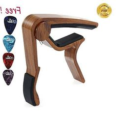 Sound harbor MA-12 Capo Guitar Capo Musicians Recommended for Acoustic Electric or Guitar - Perfect for Banjo and Ukulele - Lightweight Aluminum Materials( RoseWood Color 1 Pak)