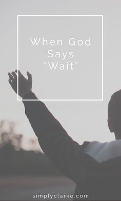 """When God Says """"Wait"""" - Can you relate? Do you feel like you are waiting on God? Waiting on God to answer your prayer, waiting on His timing. Well, you are in good company. All throughout the bible, people waited."""