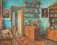 The blue kitchen 1993 by Margaret Olley (Australian female artist)
