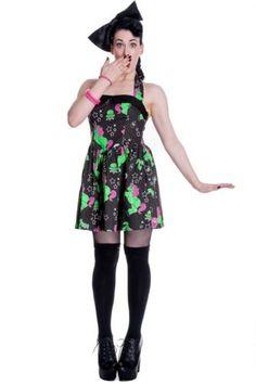 Hell Bunny I Heart Zombie Dress Womens Unicorn Punk Retro Rockabilly Alternative