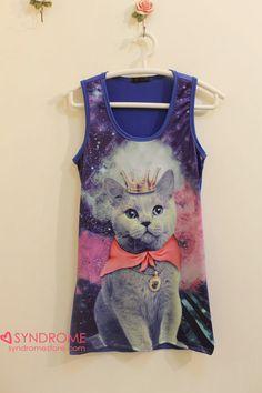 Galaxy cat shirt. Everyone wanted it okay