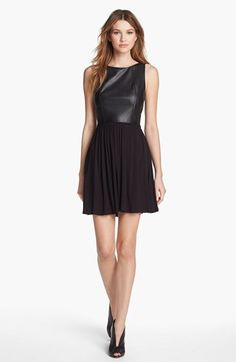 B44 Dressed by Bailey 44 Faux Leather Fit & Flare Dress | Nordstrom
