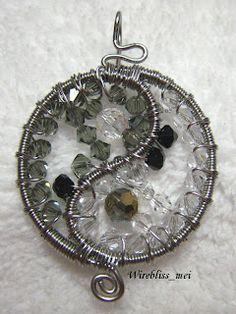 WireBlissMei: Yin & Yang Wire Wrapped Pendant