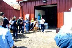 Ana speaking at the recycling barn opening 2002