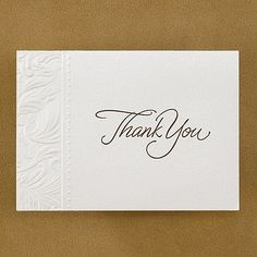 Faint Filigree - Thank You Card and Envelope