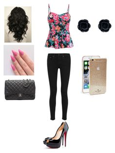"""""""Lexi"""" by cupcakeavenue2014 ❤ liked on Polyvore featuring Christian Louboutin, rag & bone, Chanel and Kate Spade"""