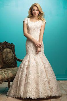 Wedding gown by Allure Modest.