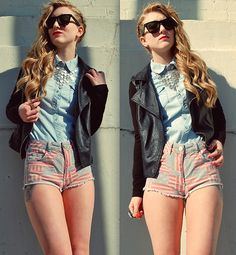 Faded Flag Hotpants (by Olivia Taylor) http://lookbook.nu/look/3131817-Faded-Flag-Hotpants