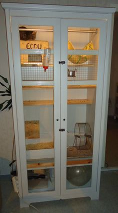 DIY Chinchilla cage (wardrobe) Would be awesome for a ferret