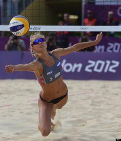 Women's Beach Volleyball - Anastasia Vasina from Russia, London 2012