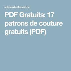 PDF Gratuits: 17 patrons de couture gratuits (PDF)