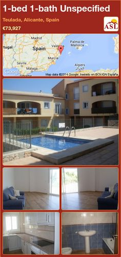 1-bed 1-bath Unspecified in Teulada, Alicante, Spain ►€73,927 #PropertyForSaleInSpain