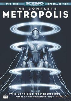 Metropolis (1926) -  cidade opressora e onipresente, que reduz seus habitantes a meros ventrílocos manipulados pela engrenagem, numa clara manifestação dos medos suscitados por uma nova cidade industrial.