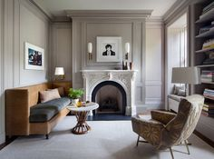 Eclectic Office and Study in New York, NY by Shawn Henderson Interior Design