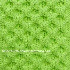 Cable Knitting Stitches » Aran Honeycomb