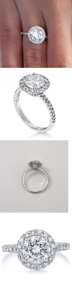 Diamond 164306: 3.75 Round Cut Diamond Solitaire Engagement Ring Si1 D 14K White Gold -> BUY IT NOW ONLY: $11362.5 on eBay!