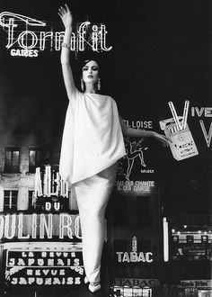Dorothea in evening gown by Grès, photo by William Klein, Paris, 1960