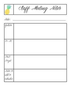 Staff Meeting Agenda Template  Staff Meetings Microsoft Word And