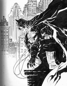 Batman sketch by Jim Lee at Wondercon