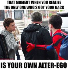 Only trust yourself. #Spiderman #peterparker #superhero