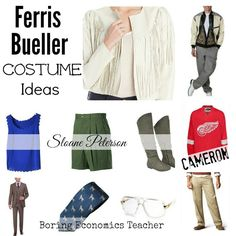 Looking for Ferris Bueller Day Off Costume Ideas for Halloween?  This is the perfect 80's theme costume idea. #FerrisBueller costumes are iconic