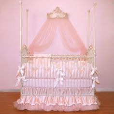 Bedding Ensembles | ... pugred11 Soft Pink Luxury Posh Baby Nursery 4-Piece Crib Bedding Set